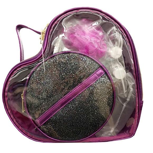 Under One Sky Handbags - Under One Sky Purple Heart 5pc Bag Set